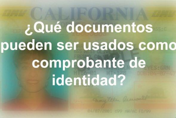 Para comprobar tu identidad, puedes proveer uno de los siguientes docume...