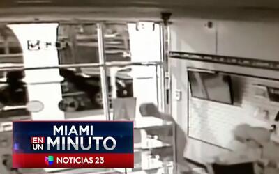 'Miami en un Minuto': en video quedó registrado el asalto a una tienda d...