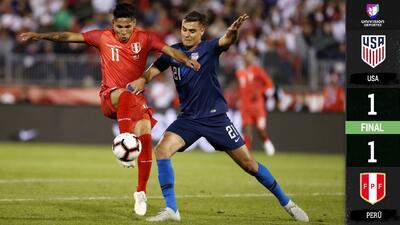 Perú rescata el empate ante el Team USA a cuatro minutos del final