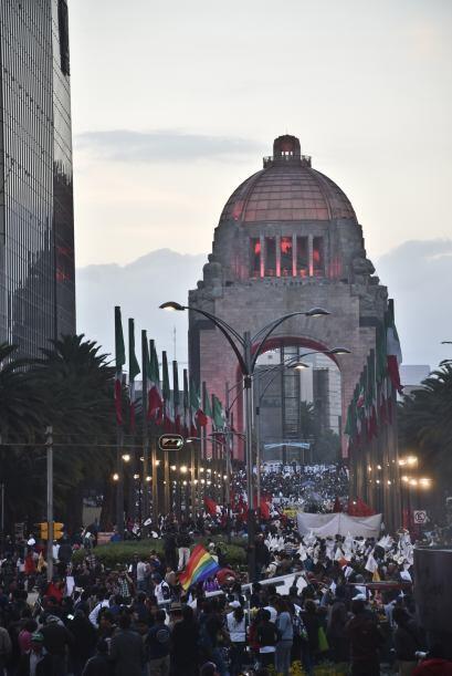 Durante el mitin realizado en el Monumento a la Revolución, el vocero de...