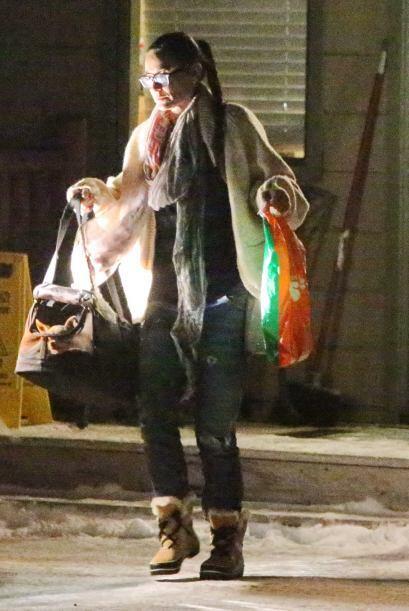 Demi Moore regresaba a su hotel ya un poco más tranquila.