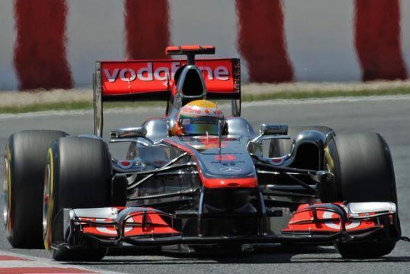 El inglés Lewis Hamilton se mantuvo entre los cinco primeros puestos des...