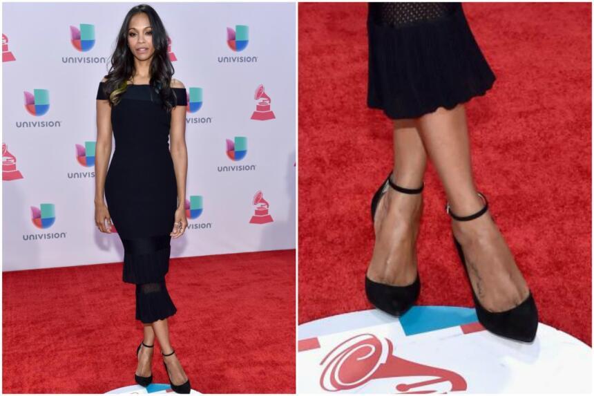 En 2015, la actriz Zoe Saldana utilizó unos tacones en color negro con c...