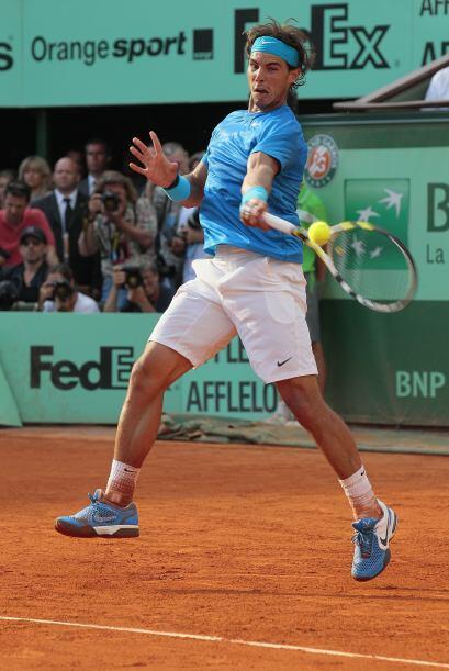Nadal, que no comenzó bien en este Roland Garros, parecía estar acorrala...