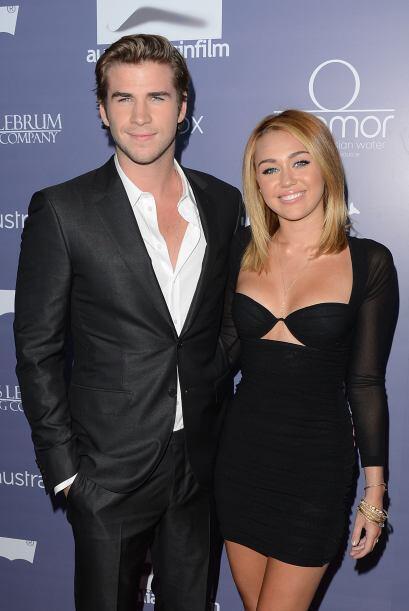 Miley Cyrus y Liam Hemsworth hacían una linda parejita.  Mira aquí los v...