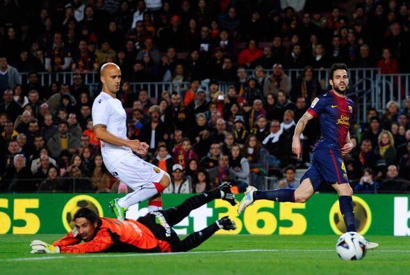 Aquí uno de sus tres goles contra el Mallorca.