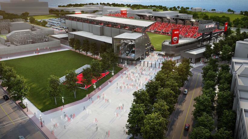 Revelan tres nuevas imágenes del estadio de DC United en Buzzard Point D...