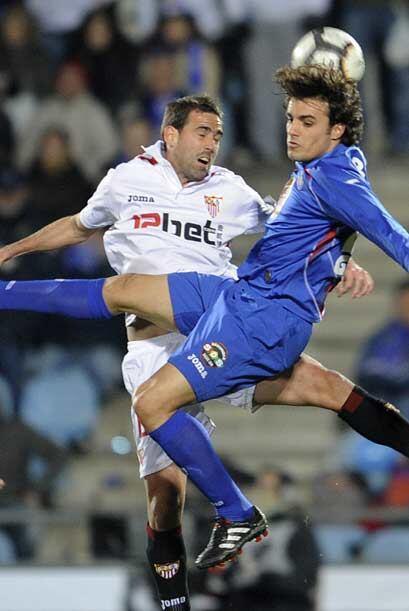 El Getafe recibió al Sevilla en la semifinal de la Copa del Rey con la o...