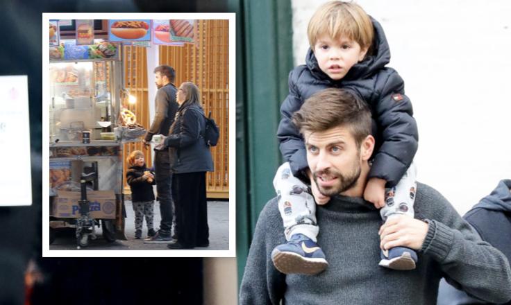 Gerard Piqué y sus hijos