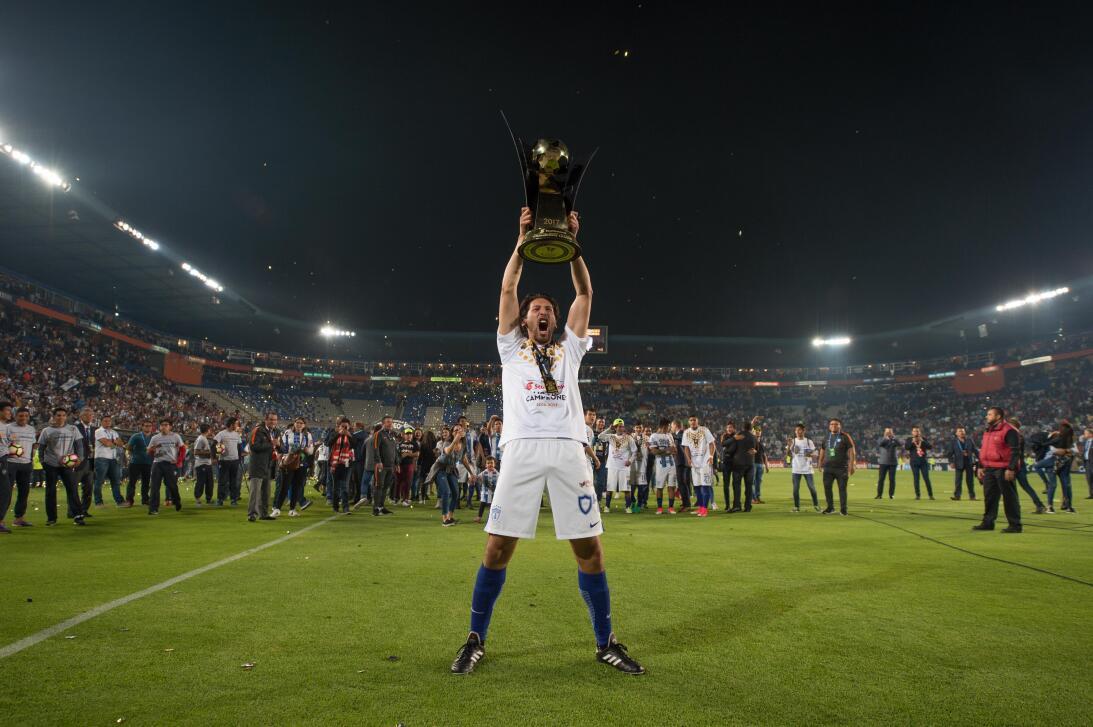 La celebración de Pachuca en su nuevo título de Liga de Campeones de Con...