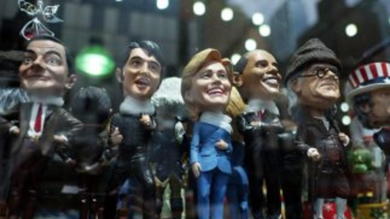 Muñeco de Hillary Clinton en el escaparate de una tienda de Nueva York