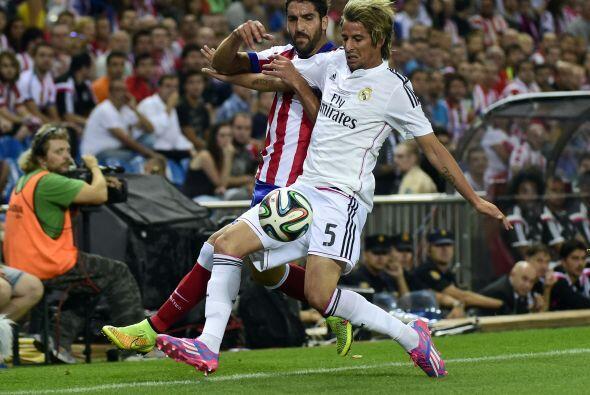 No hubo más goles y el Atlético ganó el partido.