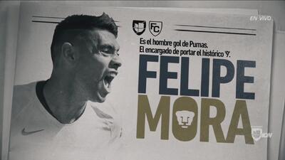 Infografía de un goleador: Felipe Mora, el encargado de portar el histórico '9' de Pumas