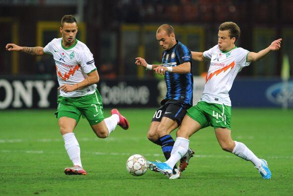 El actual campeón Inter de Milán recibió al Werder Bremen alemán.