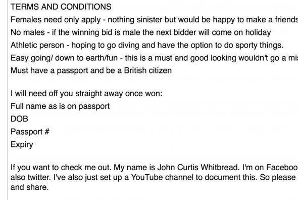 Extrañamente John tuvo un percance con su cuenta de eBay pero act...