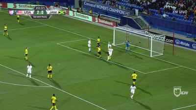 Julie Ertz marca de cabeza y Jamaica pierde 3-0