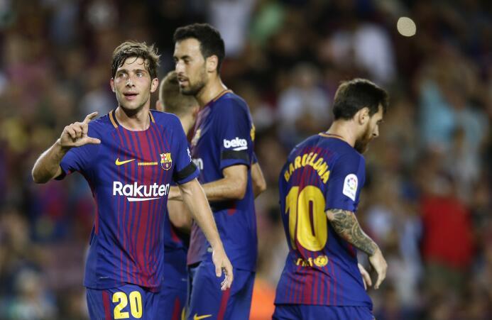 Por el lado del Barcelona, Sergi Roberto es un jugador con mucha proyecc...