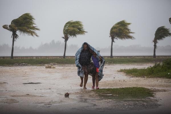 Hurricane Irma strikes in Caibarien, Cuba