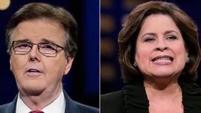 El republicano Dan Patrick y la demócrata Leticia Van de Putte, candidat...