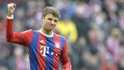 El delantero alemán abrió el camino de la goleada en el Allianz Arena.