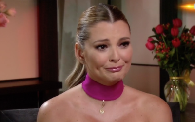Marjorie de Sousa contiene las lágrimas en una entrevista exclusiva con...