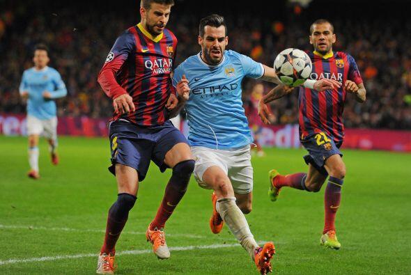 La defensa del Barcelona se vio en problemas cuando el City aceleraba.