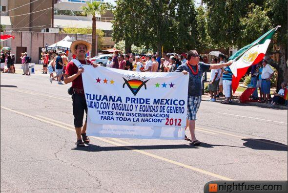 El Desfile del Orgullo Gay 2012 en Phoenix contó con la participación de...