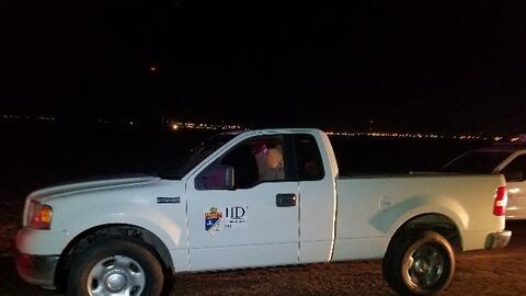 Una camioneta que fingía ser del Distrito de Irrigación de...