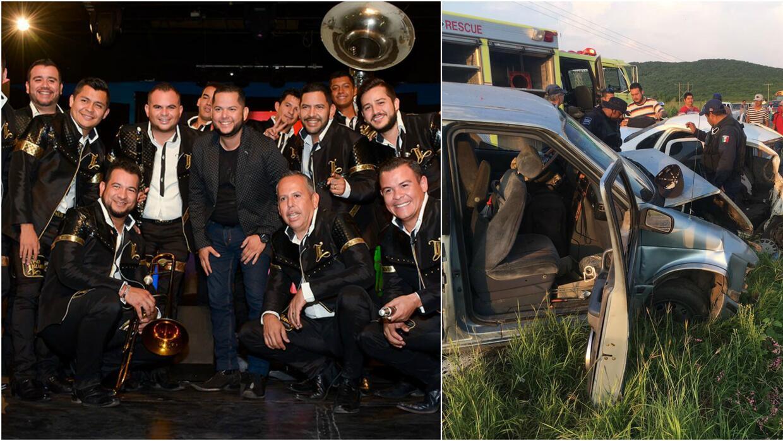 Los músicos de Toño Lizárraga sufrieron aparatoso accidente de carretera.