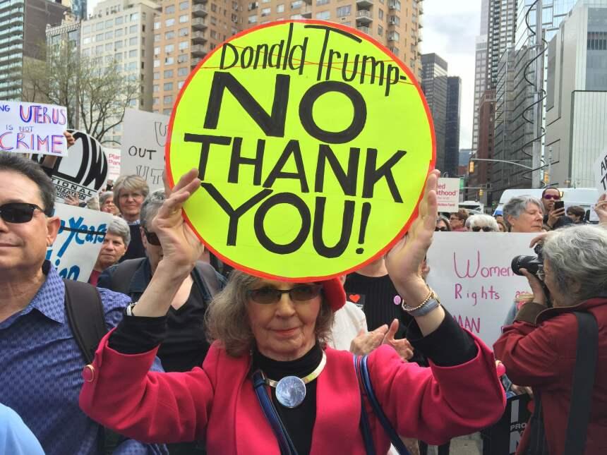 ¡Fuera de mi cuerpo Donald Trump!