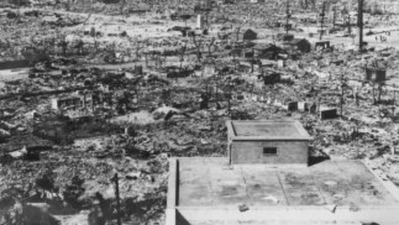 Devastación enHiroshima tras la bomba atómica.