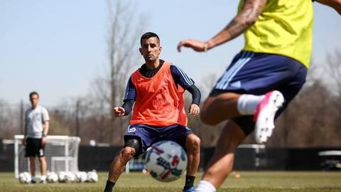 Maxi Morález, durante uno de los entrenamientos de New York City FC.