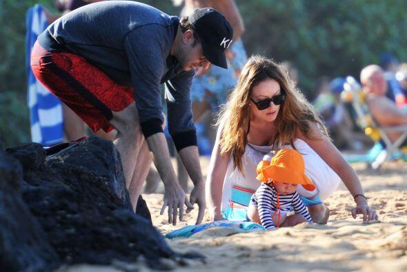 Vimos que Olivia y Jason Sudeikis son unos padres muy amorosos.