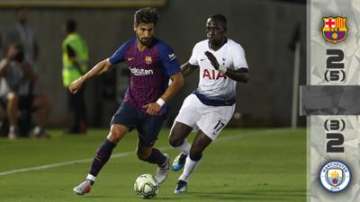 En Fotos: Barcelona debuta con triunfo en penales ante Tottenham