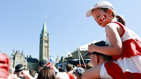 Una celebración del Día de Canada, en Ottawa, la capital d...