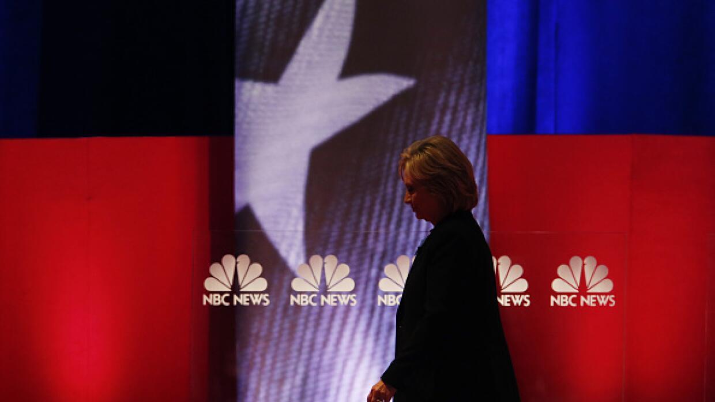Hillary Clinton tras el debate demócrata en Charleston