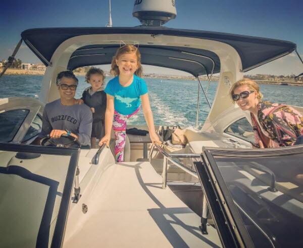 Jaime Camil y sus hijos