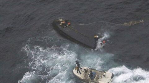 Uno de los botes fantasmas norcoreanos hallados en Japón en 2017.