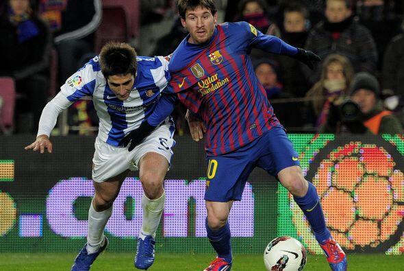 Messi tuvo algunas chances en la primera etapa pero se quedó con...