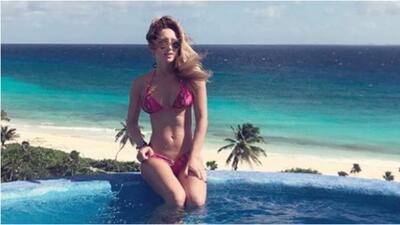 Geraldine Bazán en bikini
