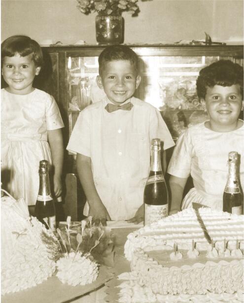 Los hermanos Portor: Margarita, Raúl y Betty
