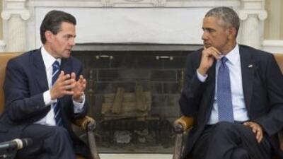 Obama y Peña Nieto en un encuentro en EEUU en enero de 2015