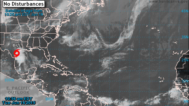 La tormenta Bill toca la costa de Texas.
