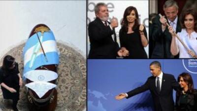 Hoy hubiera cumplido 61 años el ex presidente de Argentina, Nestor Kirch...