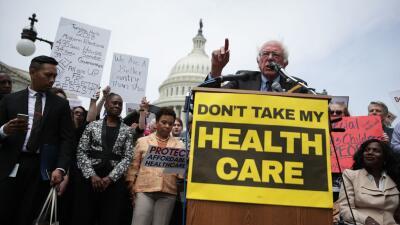 El senador Bernie Sanders ha sido uno de los más fuertes críticos del es...