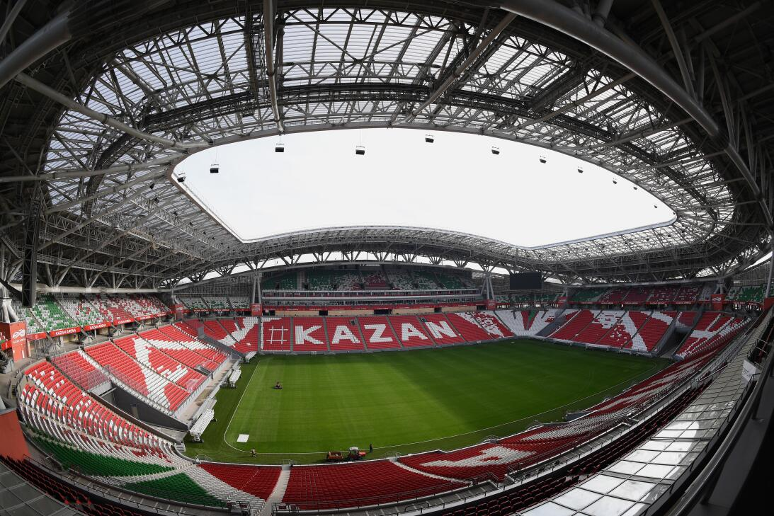El Kazan Arena (Kazán) es otro de los estadios que ya están preparados y...