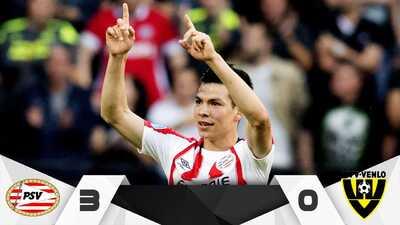Volvió la 'Chuckymanía': Hirving Lozano hizo gol y asistencia en triunfo de PSV