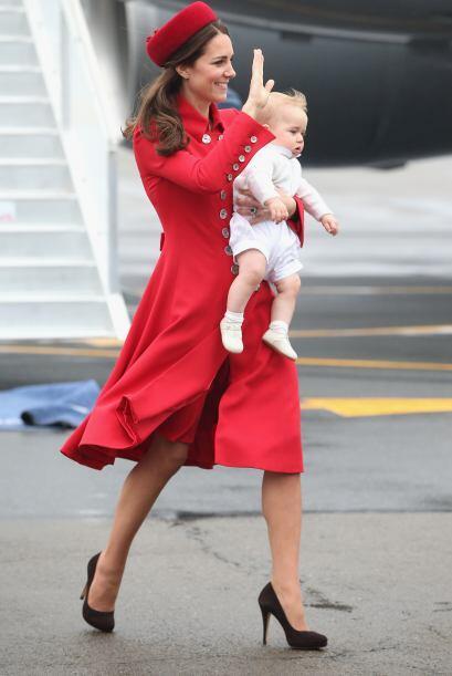La Duquesa de Cambridge arribó a Nueva Zelanda para cumplir con la agend...