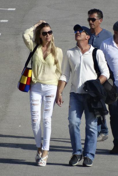 Nicole estuvo de lo más feliz con su guapo novio.