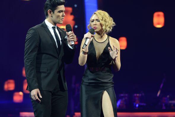 Espiridión cantó a dueto con Paloma Carrasco en la segunda gala.